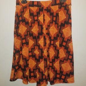 LuLaRoe | Orange & Black Skirt